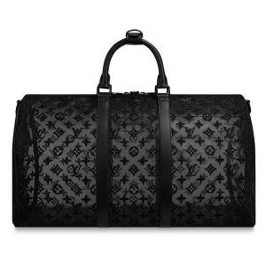 Louis Vuitton Black Monogram See Through Keepall Bandoulière 50 Bag 2