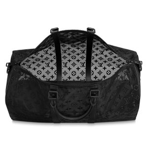 Louis Vuitton Black Monogram See Through Keepall Bandoulière 50 Bag 3