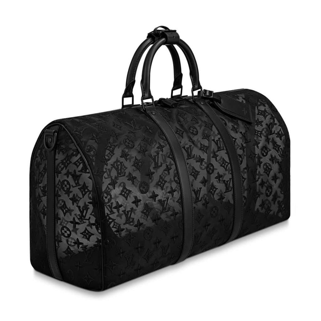 Louis Vuitton Black Monogram See Through Keepall Bandoulière 50 Bag 4