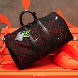 Louis Vuitton Black Monogram See Through Keepall Bandoulière 50 Bag 5