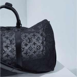 Louis Vuitton Black Monogram See Through Keepall Bandoulière 50 Bag 6