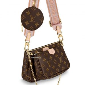 Louis Vuitton Multi-Pochette Bag with Crossbody Strap Pink