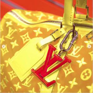 Louis Vuitton Yellow Monogram See Through Keepall Bandoulière 50 Bag