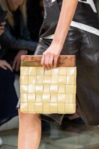 Bottega Veneta Beige Intrecciato Wooden Clutch Bag - Spring 2020
