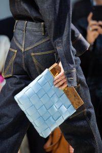 Bottega Veneta Blue Intrecciato Wooden Clutch Bag - Spring 2020
