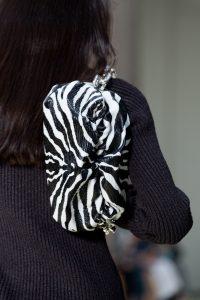Bottega Veneta Large Chain Black and White Shoulder Pouch Bag - Resort 2020