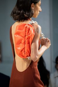 Bottega Veneta Large Chain Orange Shoulder Bag - Spring 2020