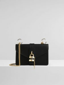 Chloe Aby Day Chain Bag - Shiny Black