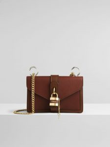 Chloe Aby Day Chain Bag - Shiny Brown