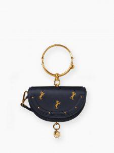 Chloe Beige Nile 'Little Horses' Minaudiere Ring Bag