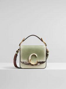 Chloe 'C' Tricolor Light Green Bag