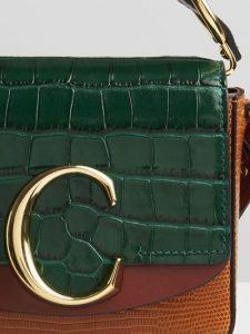 Chloe 'C' bag Tricolor Dark Green Bag