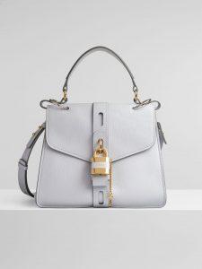 Chloe Medium Aby Day Shoulder Bag - White