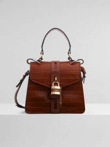 Chloe Small Aby Day Shoulder Bag - Croc Effect