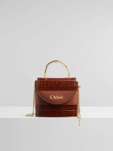 Chloe Small Aby Lock Lizard Effect Brown Python Bag