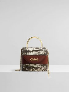 Chloe Small Aby Lock Lizard Effect Natural Python Bag
