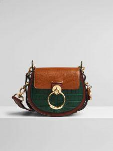 Chloe Tess Bag Tricolor Lizard Effect