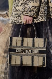 Dior Textile Striped Small Book Tote Bag - Spring 2020