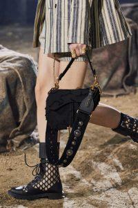 Dior Textile Wave Saddle Bag - Spring 2020