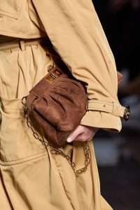 Fendi Brown Corduroy Clutch - Spring 2020