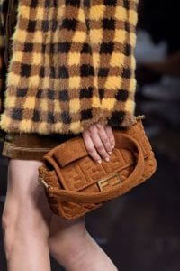 Fendi Brown Terry Baguette Bag - Spring 2020