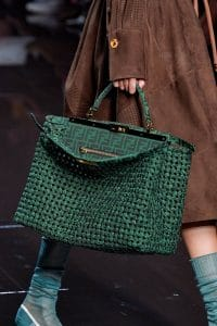 Fendi Dark Green Peekaboo Bag - Spring 2020