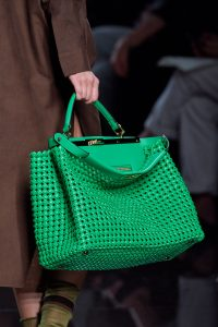 Fendi Green Woven Peekaboo Bag - Spring 2020