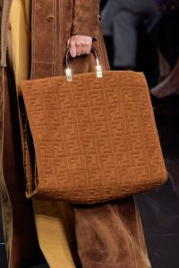 Fendi Monogram Terry Brown Tote Bag - Spring 2020