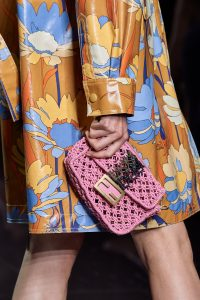 Fendi Pink Mini Baguette Clutch - Spring 2020
