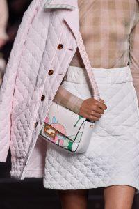 Fendi Pink Printed Baguette - Spring 2020