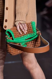 Fendi Plexi Baguette Green Woven Bag - Spring 2020
