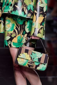 Fendi Print Green and Mono Classic Baguette Bag - Spring 2020