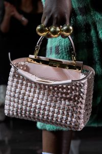 Fendi Woven Pink Mini Peekaboo Bag - Spring 2020 - 2