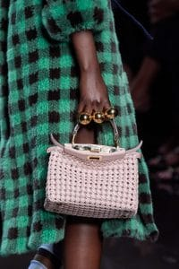 Fendi Woven Pink Mini Peekaboo Bag - Spring 2020