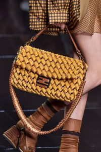 Fendi Yellow Large Woven Baguette Bag - Spring 2020