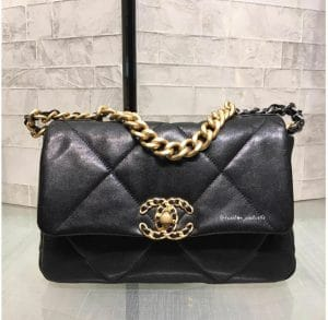 Chanel 19k Leather flap Bag