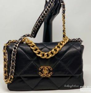 Chanel 19k Leather flap Bag