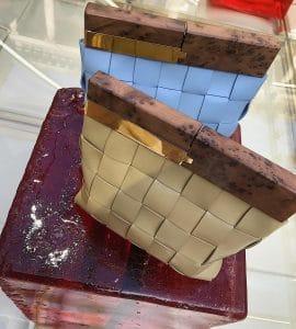 Bottega Veneta Clutch with Wooden Handle