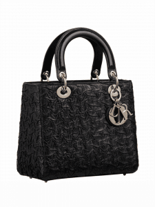 Dior Leather Embossed Lady Dior Bag