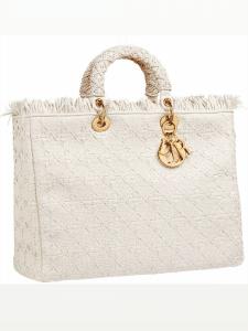 Dior White Diorissimo Tote Bag