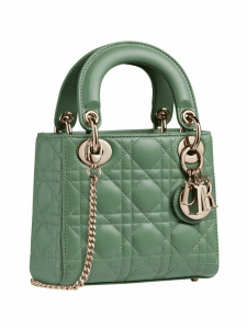 Dior Green Mini Lady Dior Bag