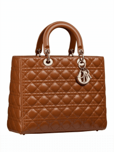 DIor Camel Large Lady Dior Bag