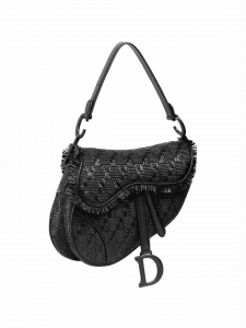 Dior Woven Leather Saddle Bag