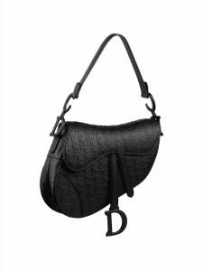 Dior Oblique Embossed Leather Saddle Bag