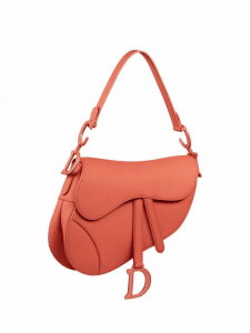 Dior Ultra Matte Orange Saddle Bag