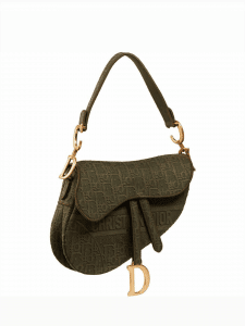 Dior Oblique Canvas Saddle Bag - Green