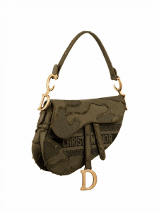 Dior Camouflage Saddle Bag - Green