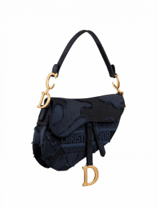 Dior Camouflage Saddle Bag - Navy