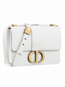 Dior White 30 Montaigne Bag