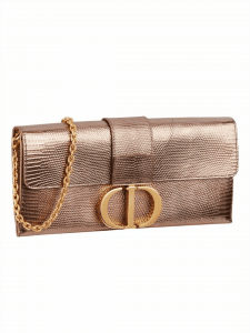 Dior 30 Montaigne Clutch Gold